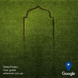 Google: Qibla Finder, 1 Print Ad by Kijamii Cairo