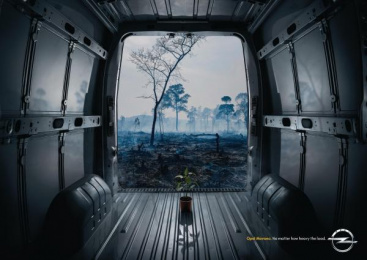 Opel Movano: Deforestation Print Ad by Y&R Madrid