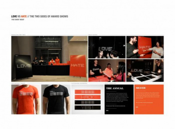 The Advertising & Design Club of Canada: LOVE/HATE - AWARD SHOW Design & Branding by Leo Burnett Toronto
