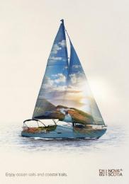 Nova Scotia Tourism: Sailboat Print Ad by DDB Toronto