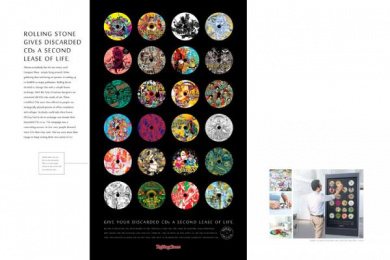 Rolling Stone: ReCycled CD's Outdoor Advert by Taproot Mumbai, Trip