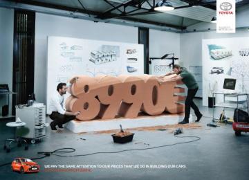 Toyota: Price, 1 Print Ad by Saatchi & Saatchi + Duke France