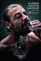 Blaues Kreuz: Man Print Ad by BBDO Berlin