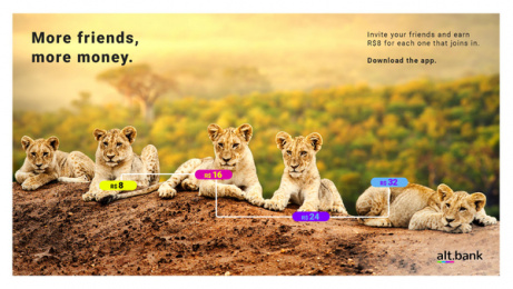 Alt.bank: Member get member, 5 Digital Advert by GhFly, Curitiba, Brazil