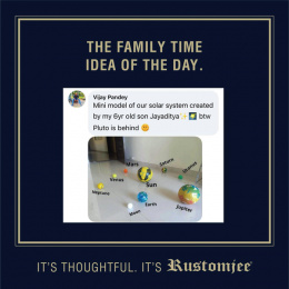 Rustomjee: The Family Time Idea Of The Day, 5 Digital Advert by Ideas@work