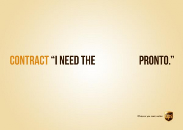 UPS: Contract Print Ad by Miami Ad School Hamburg