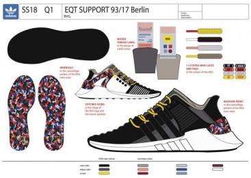 Bvg Berliner Verkehrsbetriebe: BVG x adidas – The ticket-shoe [Supporting Images], 4 Design & Branding by Jung Von Matt Germany