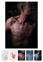 Jakarta Globe: Scars Of Misery - Man [alternative color spectrum] Print Ad by Hakuhodo Jakarta