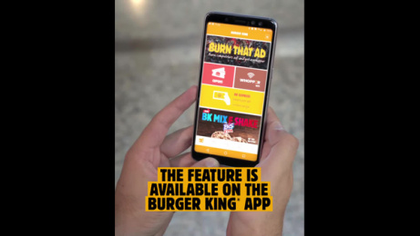 Burger King: Burn That Ad Digital Advert by David The Agency