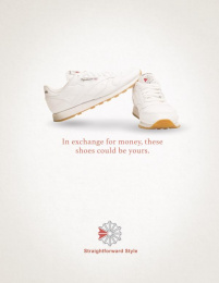 Reebok: Exchange for money Print Ad by The Creative Circus