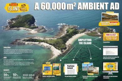 Xxxx Gold Beer: XXXX ISLAND Promo / PR Ad by BMF Australia