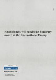 O Estadao De Sao Paulo: Kevin Spacey Print Ad by FCB Sao Paulo