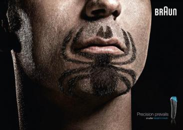 Braun cruZer: Super Beards Spiderman Print Ad by BBDO Dusseldorf