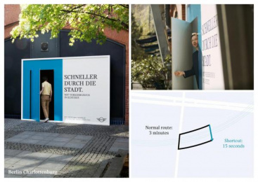 MINI: The Shortcut Billboards [Supporting Images], 1 Ambient Advert by Serviceplan Munich