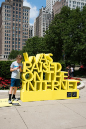 Museum of Contemporary Art Chicago (MCA): I Was Raised on the Internet, 4 Ambient Advert by FCB Chicago
