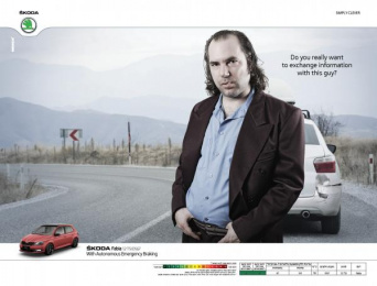 Skoda: Man Print Ad by Mench Israel