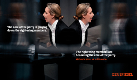 Der Spiegel: We hold a mirror up to this world., 7 Print Ad by Serviceplan, Germany