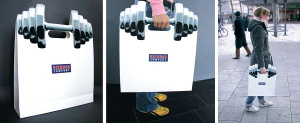 Fitness Company: Shopping Bag Direct marketing by Publicis Frankfurt