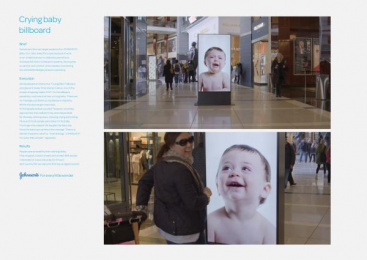 Johnson's Baby: Crying Baby [image] Ambient Advert by BBDO New York