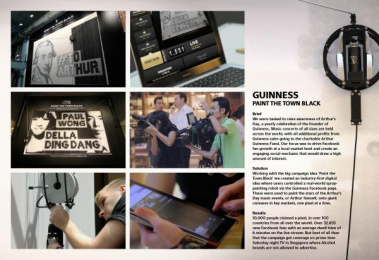 Guinness Beer: PAINT THE TOWN BLACK Outdoor Advert by Tribal London