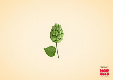 Hop & Cold: Flower Print Ad by Team collaboration