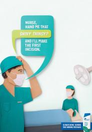 Head & Shoulders: Surgeon Print Ad by Saatchi & Saatchi New York