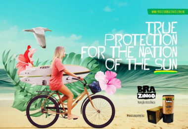 Brazinco: Surf Print Ad by Carnaby