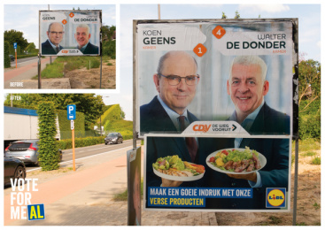 Lidl: vote for meAL, 5 Outdoor Advert by BBDO Brussels