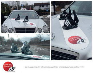 The Norwegian Snowboard Association: TAXI RIDE Outdoor Advert by Uncle Grey Norway