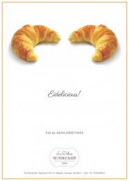 Le Delice The French Bakery: Eidelicious! Print Ad by Black Sheep
