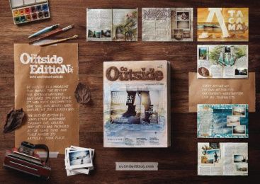 Go Outside: The Outside Edition [image] Print Ad by Delicatessen Filmes, Talent Marcel