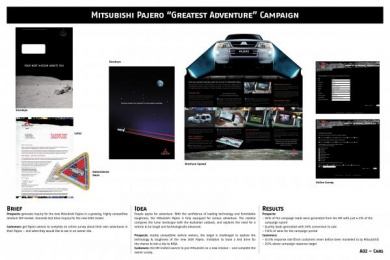 Mitsubishi Pajero: GREATEST ADVENTURE Direct marketing by Clemenger Proximity