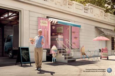 Volkswagen Trucks: Ice Cream Store [spanish] Print Ad by ALMAP BBDO Brazil