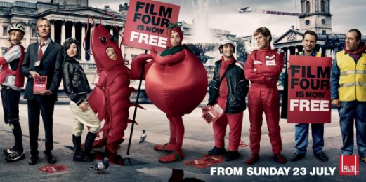 Film Channel Launch: FILM FOUR IS NOW FREE Outdoor Advert by 4creative