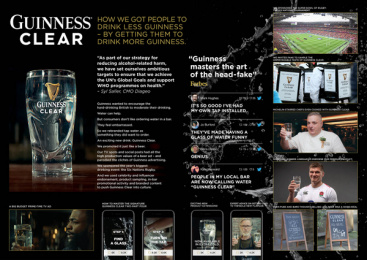 Guinness: Clear - Case Image Case study by AMV BBDO London