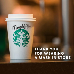Starbucks: Thank You For Wearing A Mask In Store Digital Advert by Irish International BBDO Dublin
