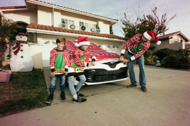 Toyota: The world's first Ugly Xmas Sweater for a car, 1 Direct marketing by Saatchi & Saatchi Los Angeles