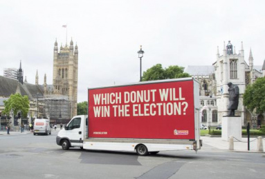 Dunkin Donuts: Which Donut will win the election? 1 Outdoor Advert by The Martin Agency London