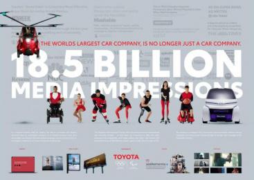 Toyota: Outdoor Print Ad by Saatchi & Saatchi USA