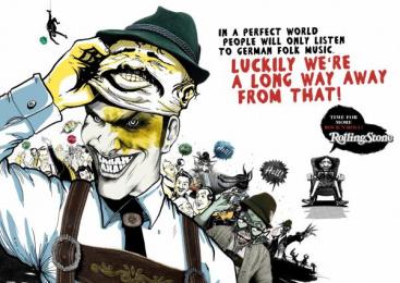 Rolling Stone Magazine: FOLK Print Ad by Oliver Voss