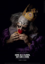 Burger King: Scary Clown Night, 1 Print Ad by Lola Madrid