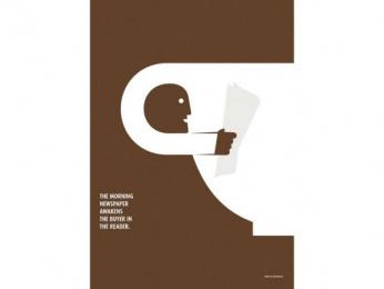 ZMG (NEWSPAPER MARKETING ASSOCIATION): The Other Side Of Newspaper, 2 Print Ad by Ogilvy & Mather Frankfurt