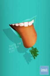 Casper & Gambini: Carrot Print Ad by Nabaroski Cairo, TBWA\ Egypt