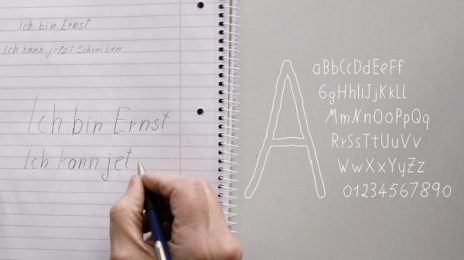 VOLKSBANKEN RAIFFEISENBANKEN: The Font Against Illiteracy Design & Branding by Heimat Berlin