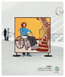 Mutualite chretienne: Wheelchair Print Ad by Euro Rscg Brussels