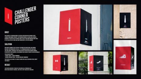 Challenger: Challenger Corner Posters Outdoor Advert by Piko
