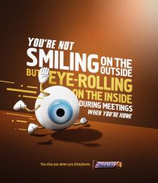Mars: Eyeroll Print Ad by BBDO GUERRERO, MANILA