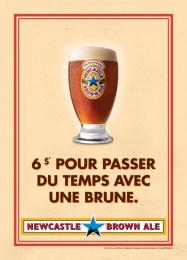 Newcastle Brown Ale: No Bollocks, 5 Print Ad by Nolin BBDO Montreal