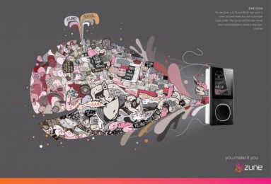Zune: COMMUNITY Print Ad by T.a.g