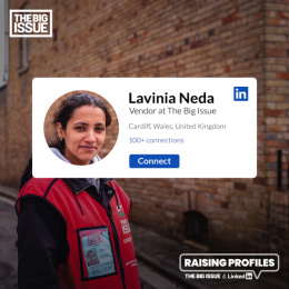 The Big Issue: Raising Profiles: Lavinia Digital Advert by FCB Inferno London